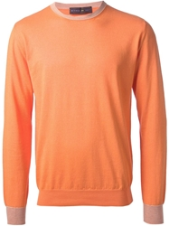 Etro Two Tone Sweater Yellow And Orange