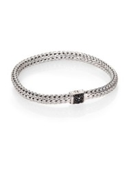 John Hardy Classic Chain Black Sapphire And Sterling Silver Small Bracelet No Color