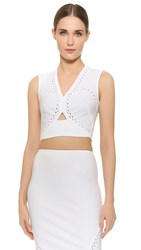Yigal Azrouel Rickrack Crop Top Optic