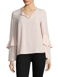 Cooper And Ella Agatha Tiered Sleeve Blouse Pale Pink
