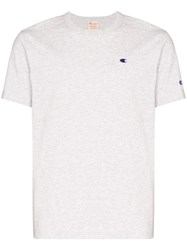 Champion Logo Embroidered Cotton T Shirt 60