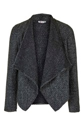 Tweed Waterfall Jacket By Wal G Grey