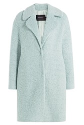 Tara Jarmon Coat With Virgin Wool And Mohair Turquoise