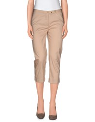 Pianurastudio Trousers 3 4 Length Trousers Women Beige