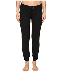 Kate Spade New York X Beyond Yoga Modal Terry Relaxed Bow Sweatpants Jet Black Women's Casual Pants