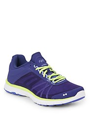 Ryka Dynamic 2 Leather And Textile Sneakers Purple Yellow