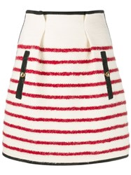 Philosophy Di Lorenzo Serafini High Waisted Striped Skirt Neutrals
