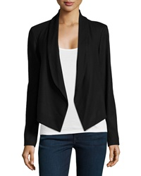 Theory Nove Open Front Cropped Blazer Black