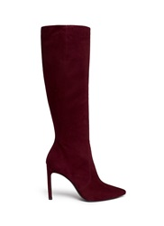 Stuart Weitzman 'Hyper' Suede Knee High Boots Red
