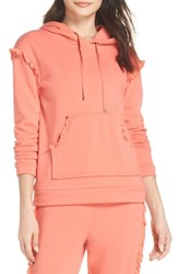 Make Model Take It Easy Lounge Hoodie Coral Peach