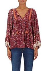 Ulla Johnson Women's Wim Peasant Blouse Red
