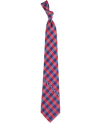 Eagles Wings Texas Rangers Checked Tie Team Color