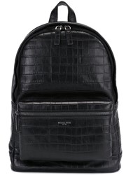 Michael Kors Crocodile Effect Backpack Black