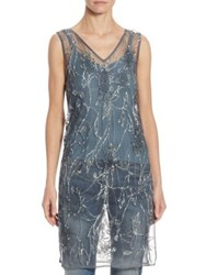 Polo Ralph Lauren Sequined Tulle Tunic Blue