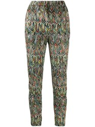 Missoni All Over Print Cropped Trousers Black