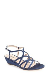 Pink Paradox London Women's 'Opulent' Wedge Sandal Navy