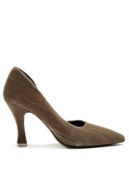 Attico Stella Velvet Pumps Grey