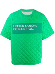 United Colors Of Benetton Quilted Logo T Shirt Green