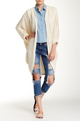American Apparel Open Front Shawl Cardigan White