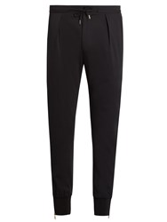 Paul Smith Zip Cuff Stretch Wool Track Pants Navy