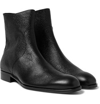 Mr. Hare Trane Pebble Grain Leather Boots