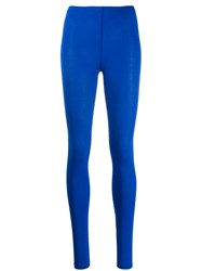 Majestic Filatures Plain Leggings Blue