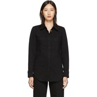 Christophe Lemaire Black Fitted Overshirt