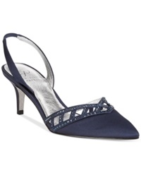 Adrianna Papell Haven Evening Pumps Women's Shoes Navy