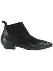 Marsell Frecce Flat Boot Calf Leather Goat Skin Leather Black