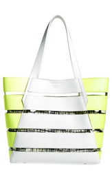 Vince Camuto 'Dayna' Tote Grey Pale Gry Golden App Clear