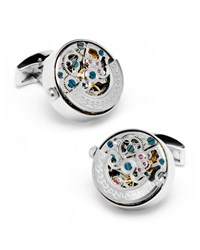 Kinetic Watch Movement Cuff Links Stainless Steel Cufflinks