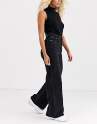 Weekday Ace Wide Leg Jeans In Black