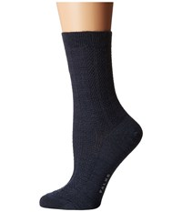 Falke Amore Ankle Dark Blue Melange Women's Crew Cut Socks Shoes