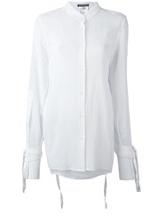 Ann Demeulemeester Lace Up Sleeves Shirt Women Cotton 38 White