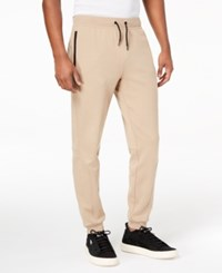 Ideology Id Men's Performance Fleece Jogger Pants Created For Macy's Hazelnut Cream