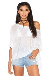 Goddis Star Chaser Crop Sweater White