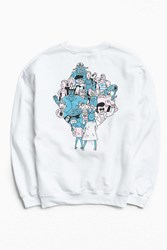 Urban Outfitters Rick And Morty Crew Neck Sweatshirt White