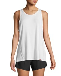 X By Gottex Open Back Jersey Tank White
