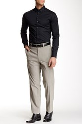 Louis Raphael Modern Fit Micro Houndstooth Pant 30 34 Inseam Beige