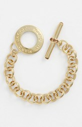 Women's Marc By Marc Jacobs 'Toggles And Turnlocks' Link Bracelet Gold Smoked Topaz