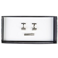 Ted Baker Getredy Cufflink And Tie Bar Set Silver