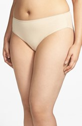Plus Size Women's Nordstrom High Cut Cotton Blend Briefs Beige Frappe