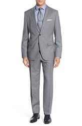 Boss Men's 'Johnstons Lenon' Trim Fit Stripe Wool Suit