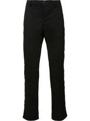 Black Fist Tapered Trousers Black