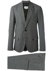 Maison Martin Margiela Micro Check Two Piece Suit Grey
