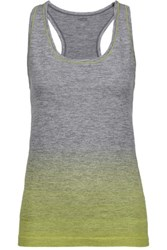 Yummie Tummie By Heather Thomson Lauren Printed Marled Stretch Jersey Tank Gray