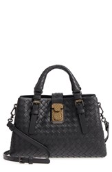 Bottega Veneta Mini Roma Leather Satchel Black 1000 Nero
