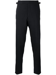 Tom Ford Side Buckle Suit Trousers Blue