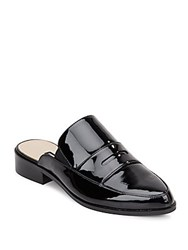 French Connection Louis Patent Leather Slip On Flats Black