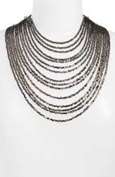 Karine Sultan Women's Joan Beaded Multistrand Necklace Gunmetal